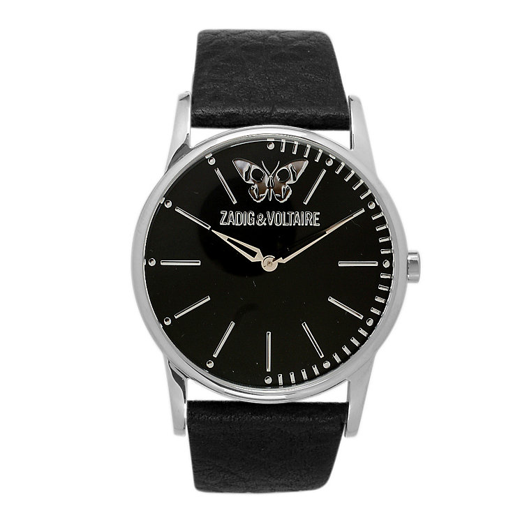 Zadig & Voltaire Ladies' Butterfly Black Leather Strap Watch - Product number 1232169