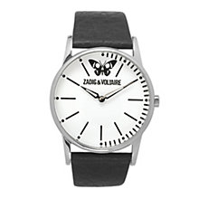 Zadig & Voltaire Ladies' Butterfly Black Leather Strap Watch - Product number 1232177