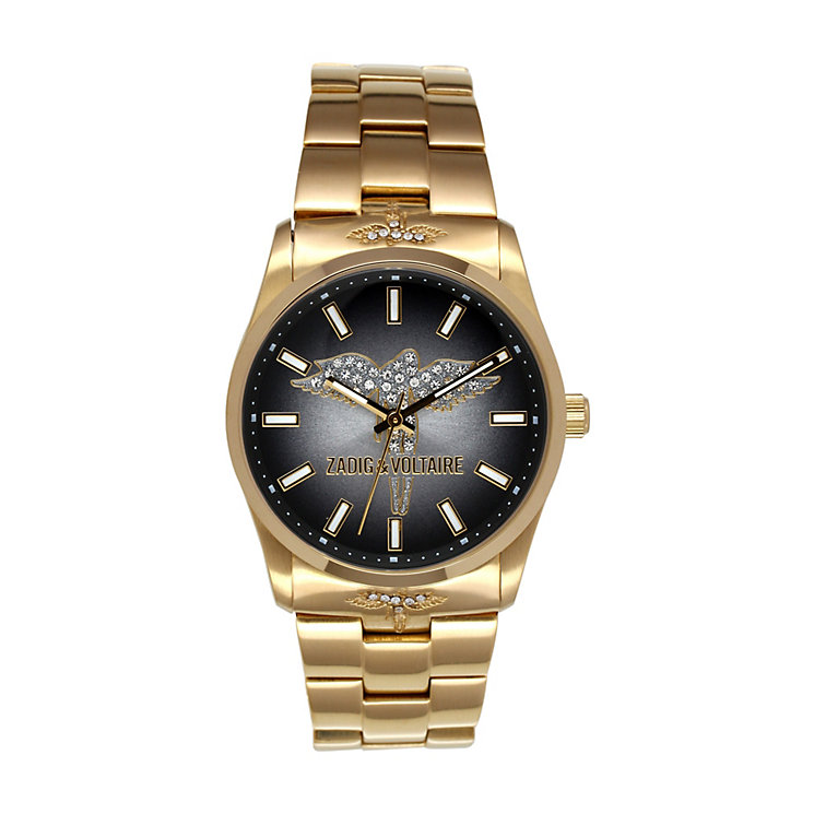 Zadig & Voltaire Ladies' Gold Tone Crystal Bracelet Watch - Product number 1232215