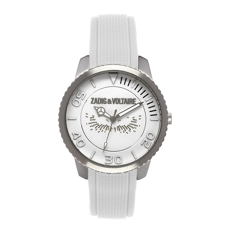 Zadig & Voltaire Ladies' Steel Wings White Strap Watch - Product number 1232274