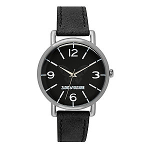 Zadig & Voltaire Ladies' Butterfly Black Leather Strap Watch - Product number 1232290