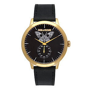 Zadig & Voltaire Ladies' Butterfly Black Leather Strap Watch - Product number 1232304