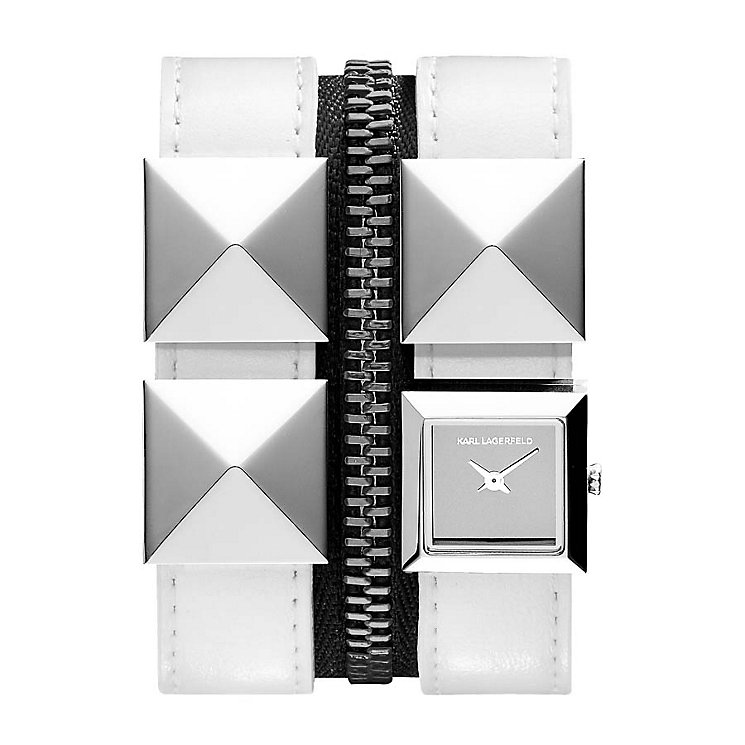 Karl Lagerfeld Chain ladies' gunmetal bracelet watch - Product number 1232509