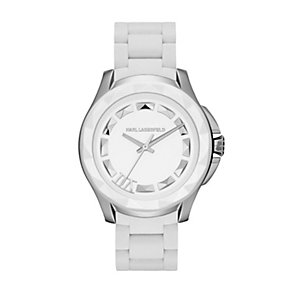 Karl Lagerfeld 7 men's white silicone bracelet watch - Product number 1232681