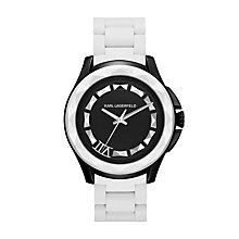 Karl Lagerfeld 7 men's black & white silicone bracelet watch - Product number 1232703