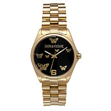 Zadig & Voltaire Ladies' Gold Tone Butterfly Bracelet Watch - Product number 1232789