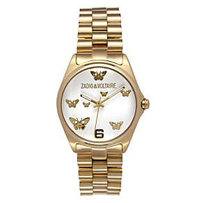 Zadig & Voltaire Ladies' Gold Tone Butterfly Bracelet Watch - Product number 1232797