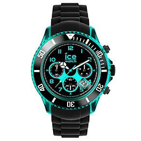 Ice-Watch Men's Turquoise & Black Silicone Strap Watch - Product number 1233513