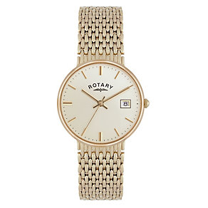 Rotary 9ct Gold Champagne Dial Bracelet Watch - Product number 1234536