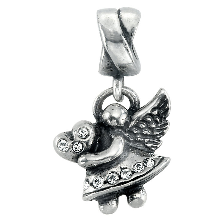 Charmed Memories Sterling Silver & Crystal Angel Dangle Bead - Product number 1237012