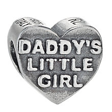 Charmed Memories Sterling Silver Daddy's Girl Heart Bead - Product number 1237047