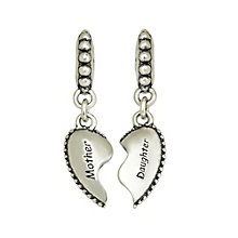 Charmed Memories Sterling Silver Mother Daughter Heart Charm - Product number 1237055