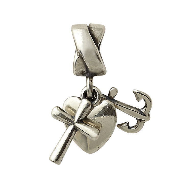 Charmed Memories Sterling Silver Faith Hope & Charity Charm - Product number 1237063