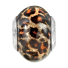 Charmed Memories Leopard Print Murano Glass Bead - Product number 1237144