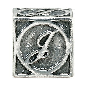 Charmed Memories Sterling Silver J Initial Bead - Product number 1238175