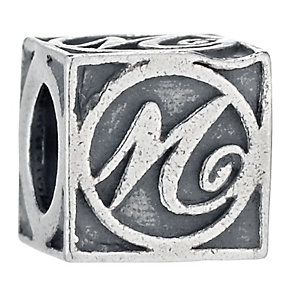 Charmed Memories Sterling Silver M Initial Bead - Product number 1238205