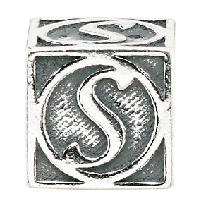 Charmed Memories Sterling Silver S Initial Bead - Product number 1238272