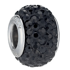 Charmed Memories Sterling Silver Black Crystal Bead - Product number 1239333