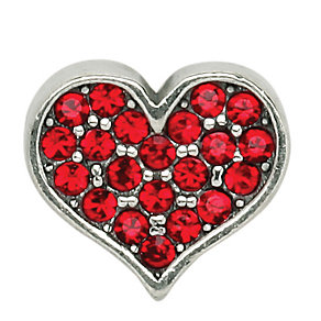 Charmed Memories Silver & Red Crystal Heart Charm - Product number 1239376