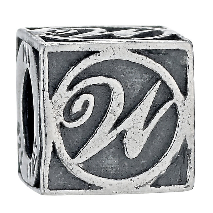 Charmed Memories Sterling Silver W Initial Bead - Product number 1243381