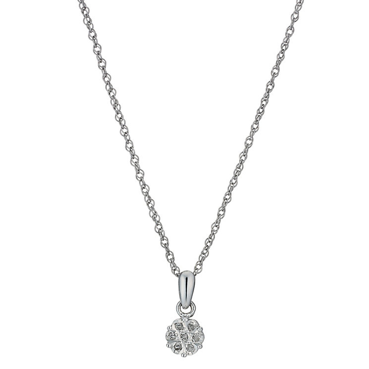 Silver Diamond Cluster Pendant - Product number 1244752