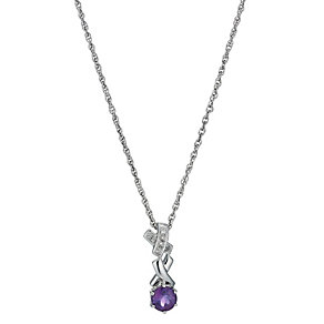 Kiss Silver & Amethyst Pendant - Product number 1244884