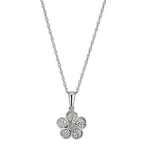 Sterling Silver Flower Cluster Pendant - Product number 1245023