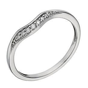 Palladium 950 diamond set shaped band - Product number 1246607