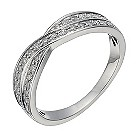 Platinum 1/4 carat diamond crossover ring - Product number 1246879