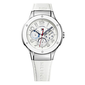 Tommy Hilfiger Ladies' White Rubber Strap Watch - Product number 1248537