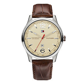 Tommy Hilfiger Men's Brown Leather Strap Watch - Product number 1248995