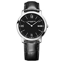 Baume & Mercier Classima men's black leather strap watch - Product number 1263676