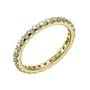 18ct yellow gold 0.50ct diamond eternity ring - Product number 1267965