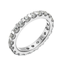 18ct white gold 1 carat diamond eternity ring - Product number 1268503