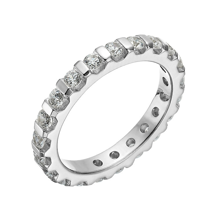 Platinum 1 carat diamond eternity ring - Product number 1269291