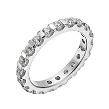 Platinum 1 carat diamond eternity ring - Product number 1269291
