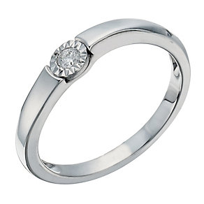 9ct white gold illusion diamond ring - Product number 1269585