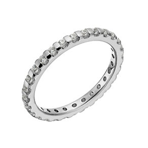 18ct white gold 0.50ct diamond eternity ring - Product number 1271369