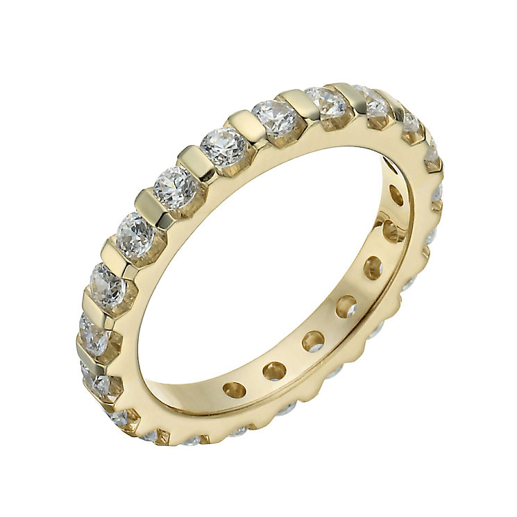 18ct yellow gold 1 carat diamond eternity ring - Product number 1271490