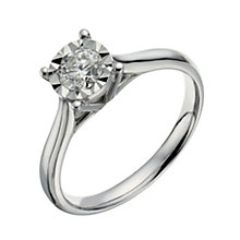 9ct white gold 40 point illusion set diamond ring - Product number 1271636