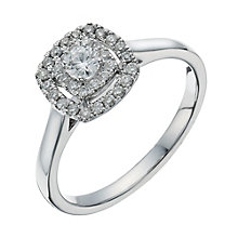 9ct white gold 0.33ct diamond halo cluster ring - Product number 1272969