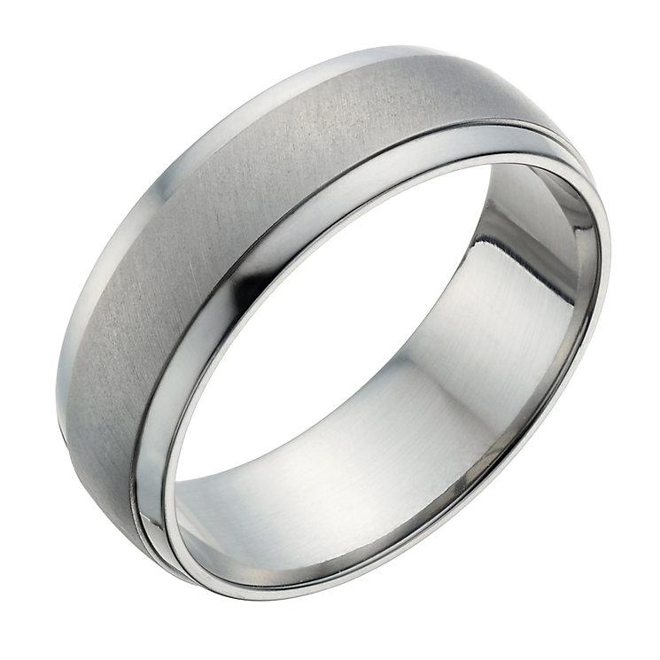Titanium Men's Matt & Polished Ring - Product number 1274139