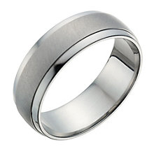 Titanium Men's Matt & Polished Ring - Product number 1274139
