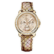 Juicy Couture ladies' rose gold-plated stone set strap watch - Product number 1278134