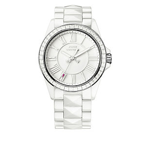 Juicy Couture ladies' white ceramic bracelet watch - Product number 1278223