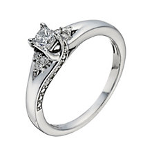 9ct White Gold 2/5 Carat Princess Cut Diamond Solitaire Ring - Product number 1278711