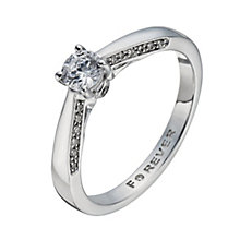 18ct White Gold 2/5 Carat Forever Diamond Solitaire Ring - Product number 1278983