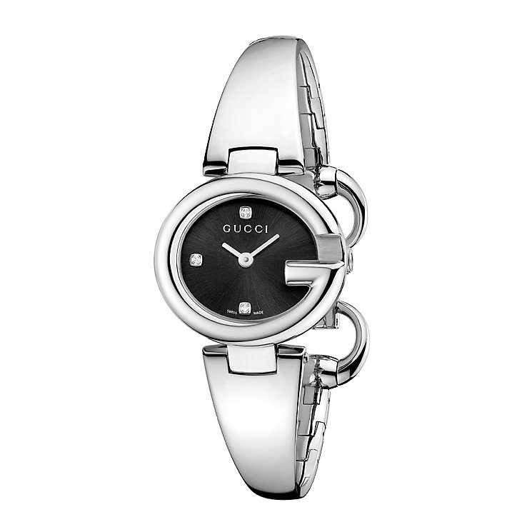 Gucci ladies' small diamond stainless steel bracelet watch - Product number 1280619