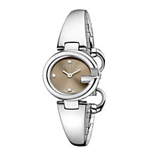 Gucci Guccisima ladies' small diamond steel bracelet watch - Product number 1280880