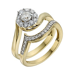 Perfect Fit 18ct Yellow Gold 2/3 Carat Diamond Bridal Set - Product number 1280899